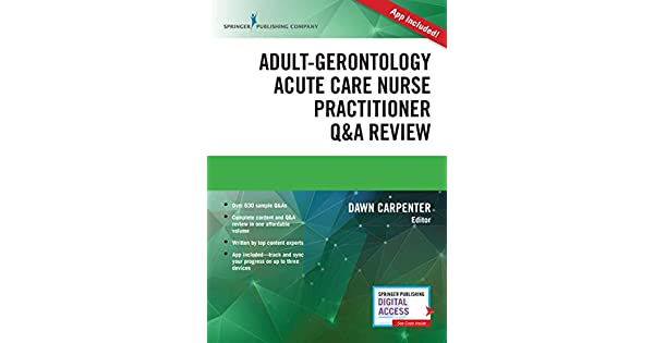 Amazon.com: Adult-Gerontology Acute Care Nurse Practitioner ...