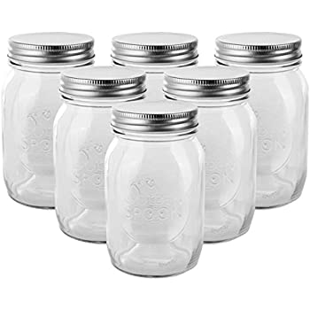 Golden Spoon Mason Jars, With Regular Lids, And Lids For Drinking, Regular  Mouth