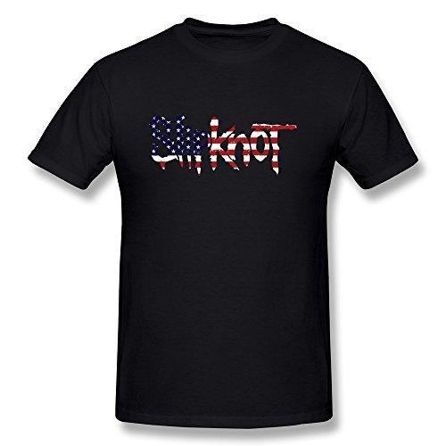 JeFF Men's Slipknot Band LOGO US Flag O-neck T-shirt XX-Large (Corey Taylor Slipknot Mask Sale)