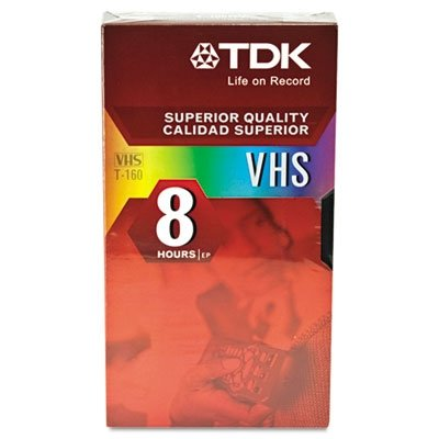 TDK Standard Grade VHS Videotape Cassette, 8 Hours, Each (TDK38030) Category: VCRs and VCR Accessories by TDK