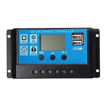 SolarCell 30A USB Solar Panel Battery Regulator Charge Intelligent Controller 12V/24V