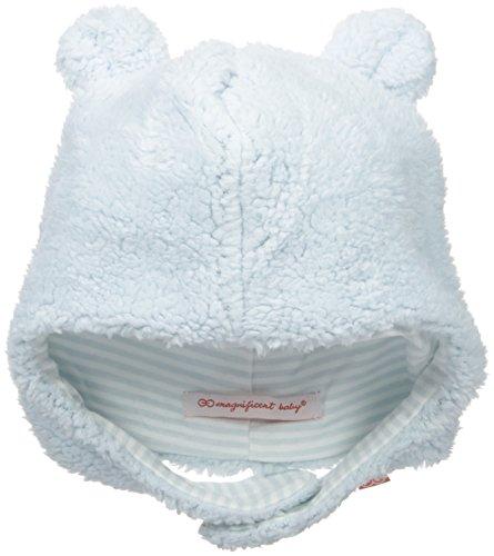 Magnificent Baby Baby Boys' Magnetic Smart Little Bear Fleece HAT, Blue Sorbet, 0-6 Months