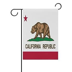 "ONEERA California Flag American State Flag Weatherproof Polyester Garden Flag 12"" x 18"" Seasonal Home Banner"