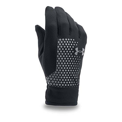 Under Armour Men's Threadborne Run Gloves, Black (001)/Silver, Large