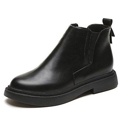 RTRY Charol Zapatos De Mujer Otoño Botas Botas De Combate Enredaderas Round Toe Para El Exterior Negro Us8 / Ue39 / Uk6 / Cn39 US6 / EU36 / UK4 / CN36