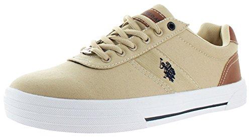 U.S. POLO ASSN Helm Men's Canvas Fashion Sneakers Beige S...