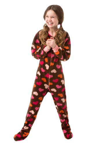 ec73db9ac6e3 Big Feet Pjs Big Girls Pink Camo Kids Footed Pajamas Onesie Sleeper ...