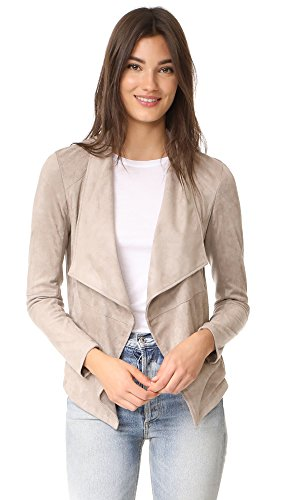 (BB Dakota Women's Wade Faux Suede Jacket, Toffee, Large)