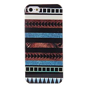 WQQ Classic Colorful Stripe Pattern Back Case for iPhone 5/5S