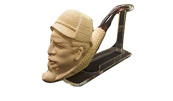 100/% Solid Block Meerschaum Pipe Hand Carved Meerschaum Pipe Sherlock Holmes Meerschaum Pipe Dedective Pipe