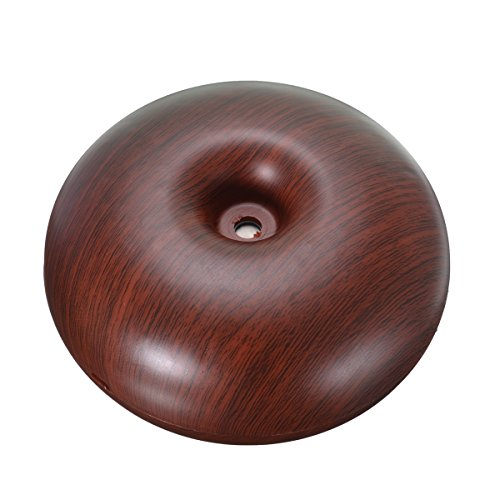 Aroma Diffuser, EIVOTOR 120ml Wood Grain Mini Humidifier, Cool Mist Aroma Humidifier with Aromatherapy, Ultrasonic Anion Heating, Humidification, Dust Control, Energy-saving, Whisper-quite (Wine Red)