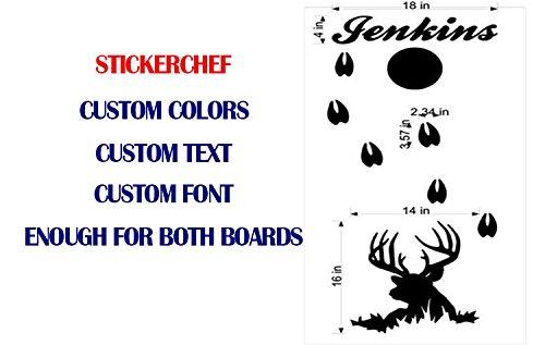 StickerChef Buck Deer Hunting Cornhole Board Decals Stickers - Extra Large (2 Decals) - Wall Decals - Vinyl Stickers - Custom Text