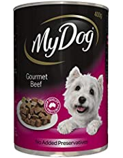 MY DOG Gourmet Beef Wet Dog Food 400g Can, 24 Pack