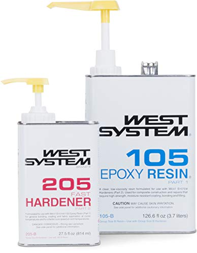 West System 105-B Epoxy Resin (.98 gal) With 207-B Special Clear Epoxy Hardener (.33 gal) and Epoxy Metering Pump Set by WEST SYSTEM (Image #4)