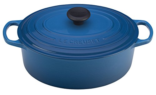 Le Creuset of America Enameled Cast Iron Signature Oval Dutch Oven, 8 quart, Marseille