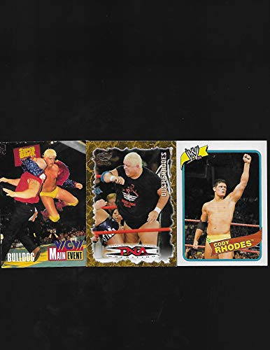 (Dusty Rhodes TNA Wrestling 2004 Pacific Trading Card # 68 - Lot of 3 Wrestling Trading Cards - Includes Dustin Rhodes, Cody Rhodes - Stored in a Protective Plastic Display Case!!)