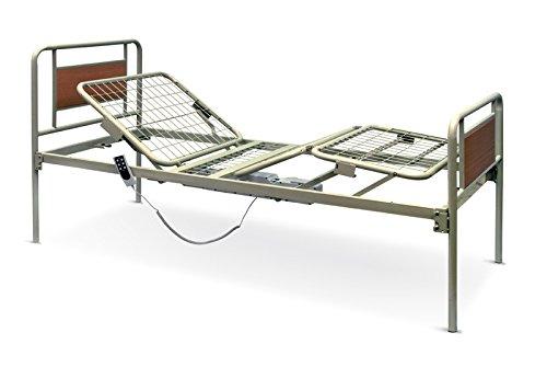 Letto degenza a tre snodi su ruote elettrico elevabile in altezza