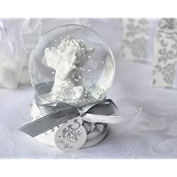 "Artisano Designs ""Angel Kisses Cherub Snow Globe Favor"