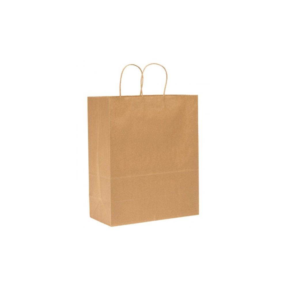 Kraft Paper Shopping Bag 14 x 10 x 15.5 Brown 1 Bag