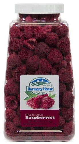 - Harmony House Foods Freeze-Dried Raspberries, whole (3.5 oz, Quart Size Jar)