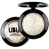 Malloom Single Baked Eye Shadow Powder Palette Shimmer Metallic Eyeshadow Palette 03
