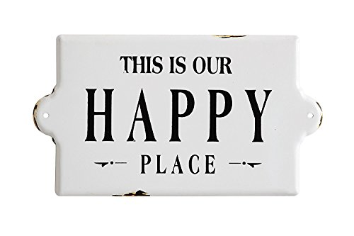 Creative Co-op This is Our Happy Place Rustic Style Wall Sign