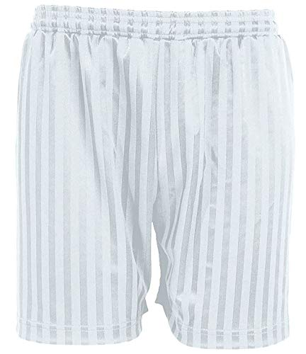 MA ONLINE Boys Summer Sports Football Gym Wear Fancy Shorts Mens Shadow Stripes Shorts White 5-6 Years