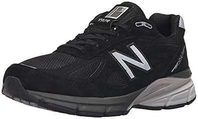 New Balance Men\u0027s M990BK4 Running Shoe, Black/Silver, 8 B US
