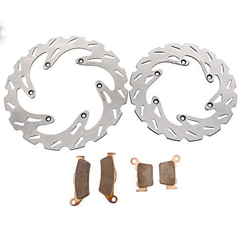 RipTide Front and Rear Brake Rotors and Brake Pads fits 2004-2009 KTM 450 - Exc 2009 Ktm
