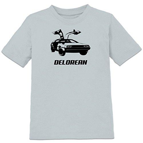Shirtcity Delorean Retro Car Kids' T-shirt 110-116 Grey