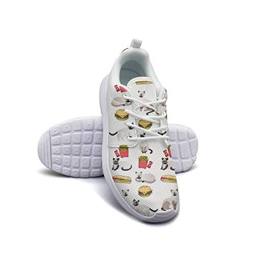 1dce2a29b8f602 Hobart dfgrwe Siamese cat Hamburger Fries Women Flat Bottom Casual Shoes  Sneakers Fashion sportsshoes
