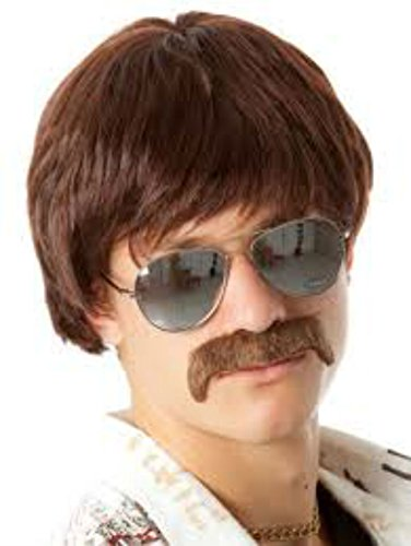 80s Shag Wig - for Guys, Girls, Children - 2 Colors - #1 Too Cool For School Wig (Brown) (80s Guys Costume)