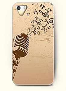 OOFIT Phone Case Design with Singing and Microphone for Apple iPhone 5 5s 5g