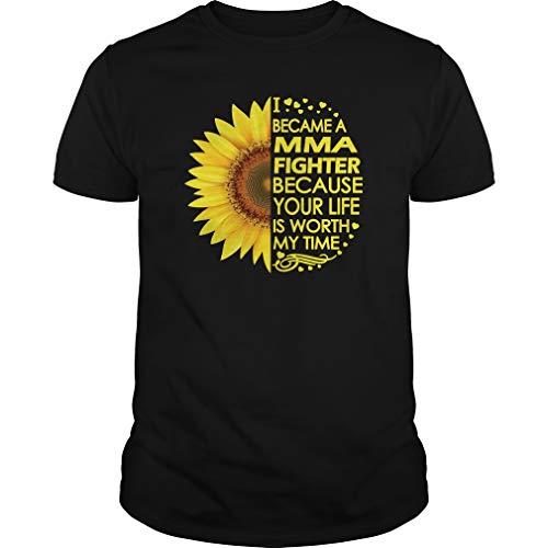 MMA Fighter Sunflower T-Shirts - Unisex Tee Black]()