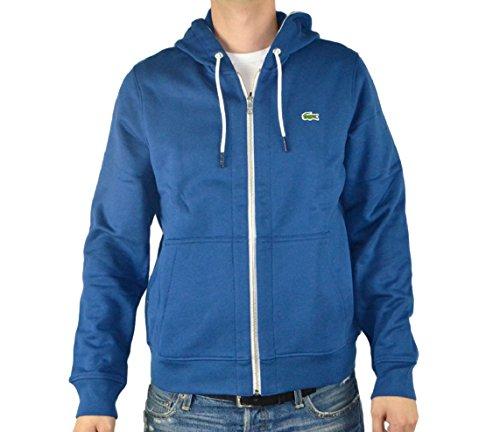 Lacoste Men's L!ve Full Zip Hooded Fleece Sweatshirt Small Inkwell
