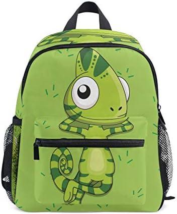 緑のカジュアルな恐竜の昆虫幼児バックパックブックバッグミニショルダーバッグ1-6年旅行男の子女の子子供用チェストストラップホイッスル