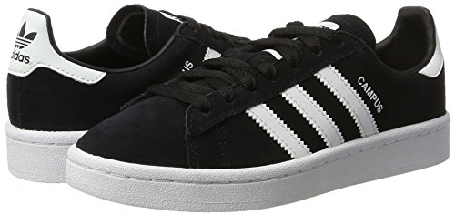 Amazon.com | adidas Youth Campus Suede Synthetic Core Black White Trainers 4 US | Sneakers