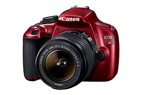 Canon EOS Rebel T5 EF-S 18-55mm IS II Lens Digital SLR Camera Kit - RED (Certified Refurbished)
