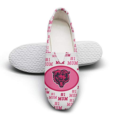 Chicago Bears Mother's Day Women's Cloth Shoes for womens Printing Shock Absorption ()