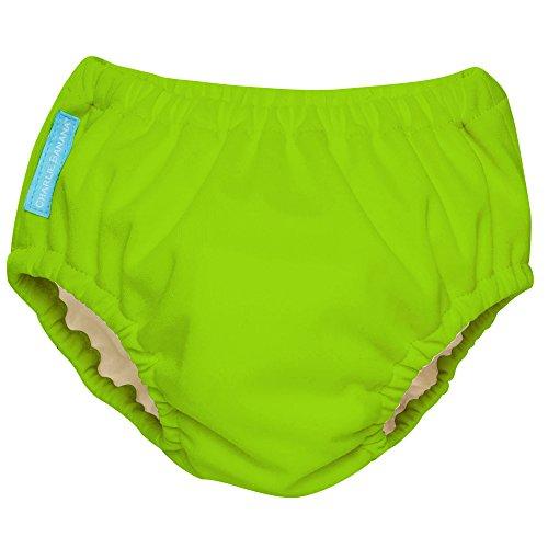 Charlie Banana Extraordinary Swim Diaper, Green, Large
