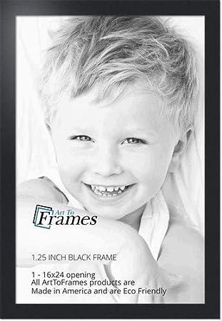 Amazoncom Arttoframes 16x24 Inch Black Picture Frame