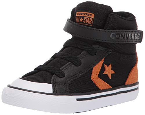 Converse Boys Infants' Pro Blaze Canvas High Top Sneaker, Black/Monarch/White 10 M US Toddler