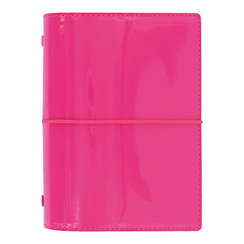 Filofax Pen Pink (Filofax 2019 Pocket Domino Organizer, Patent Pink, Paper Size 4.75 x 3.25 inches (C022480-19))