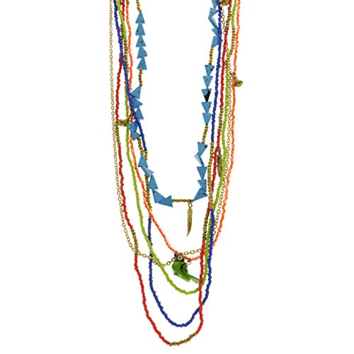 Mi Amore Bird Layered-Necklace Multicolor/Gold-Tone from Mi Amore