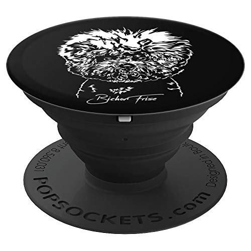 Funny Beautiful Bichon Frise dog portrait gift present - PopSockets Grip and Stand for Phones and Tablets