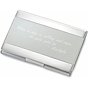 Amazon business card holder free engraving business card personalized silver satin business card case holder engraved free colourmoves