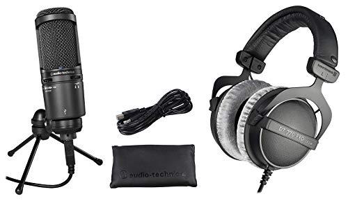 Audio Technica AT2020USB+ Plus USB Recording Mic+Beyerdynamic DT-770 Headphones