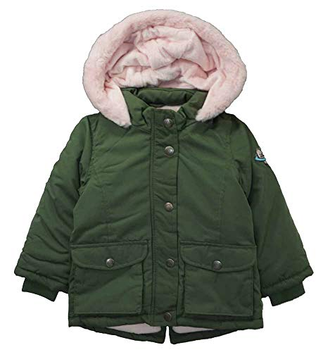 Carter's Baby Girls' Infant Olive Green & Pink Outerwear Coat, Olive Drab, ()