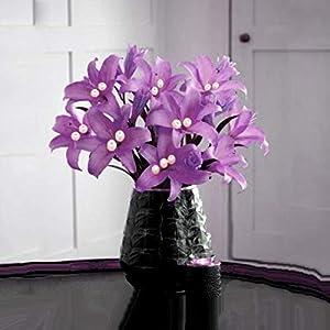 Efavormart 70 Tiger Lily Artificial Wedding Flowers for DIY Wedding Bouquets Arrangements Party Home Decorations - Lavender 37
