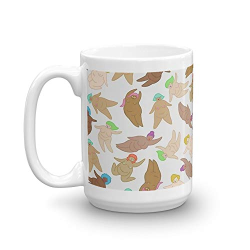 Naked Fat Ladies. 15 Oz Classic Coffee Mugs, C-handle And Ceramic Construction. 15 Oz Ceramic Glossy Mugs With Easy Grip Handle, Give A Classic For Look And Feel -